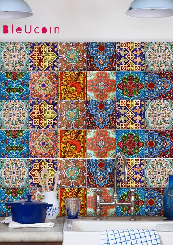 Fliesen / Wand / Treppen Aufkleber : Russian Talavera Stil 11 | Etsy