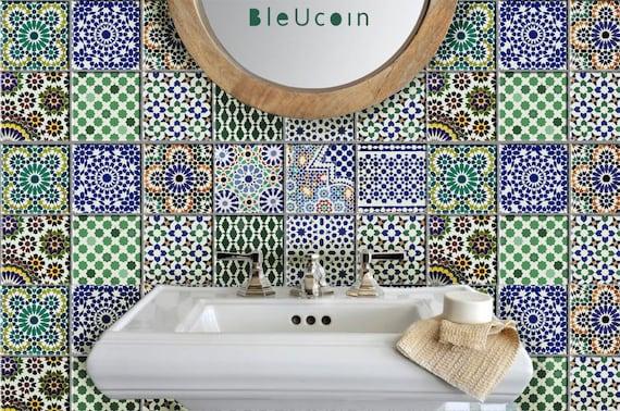 Fliesen Wandtattoo Küche Bad Treppe Marokkanische Etsy - Marokkanische fliesen küche