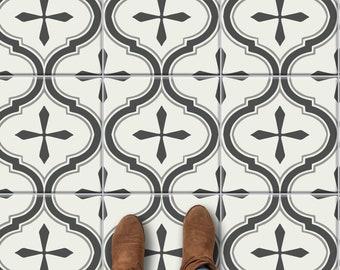 Scandinavian Grey Dust Peel & Stick Tile Stickers for Kitchen Bathroom Backsplash Tile Wall Stair Floor Removable Renter friendly WaterProof