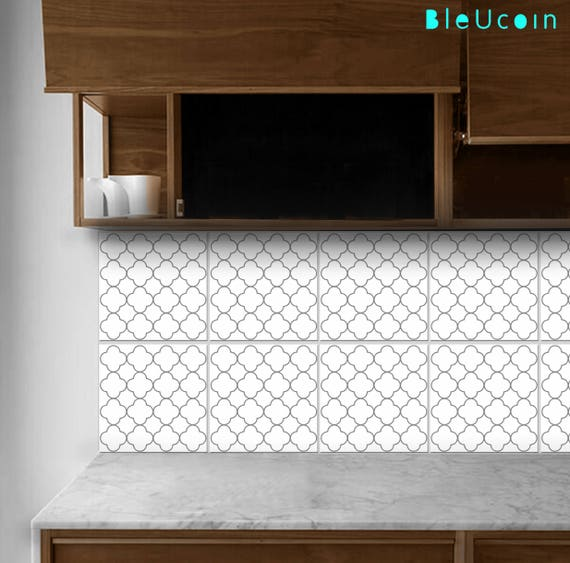 Fliesen / Wandtattoo : Morrocan Quatrefoil Muster 44pcs | Etsy
