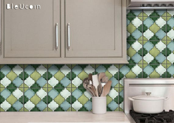 Penny Tile Stickers Kitchen Bathroom Wall Tile Floor Etsy