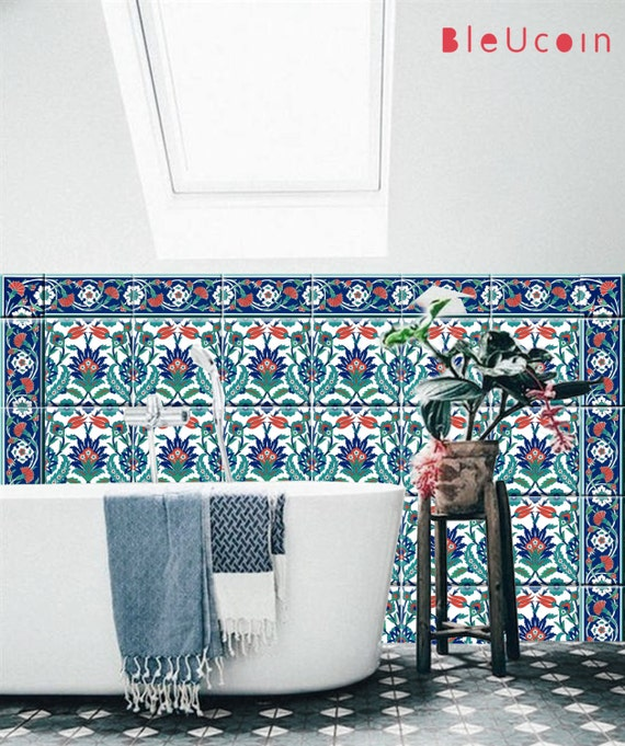 Küche Bad Türkischen Fliesen WandAbziehbilder Einzel Etsy - Türkische fliesen online