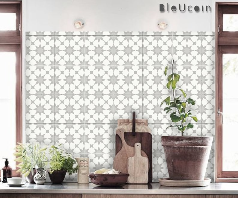 Encaustic piastrelle marocchine parete scala autoadesivi etsy