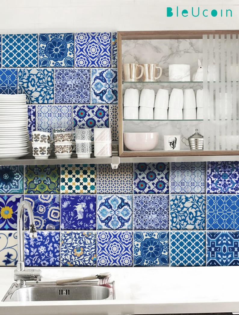 Kitchen/Bathroom Indian Jaipur Blue pottery Tile/ Wall/ Floor   Etsy