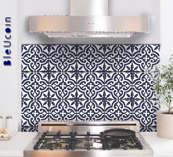 Tilewall Decal Moroccan Tile Sticker For Kitchenbathroom Etsy