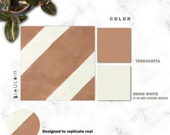 "Chittor Tan 8"" x 8""- 30 Pcs Matte  Peel and Stick Floor Sticker Kitchen Bathroom Floor Removable 50% discount"