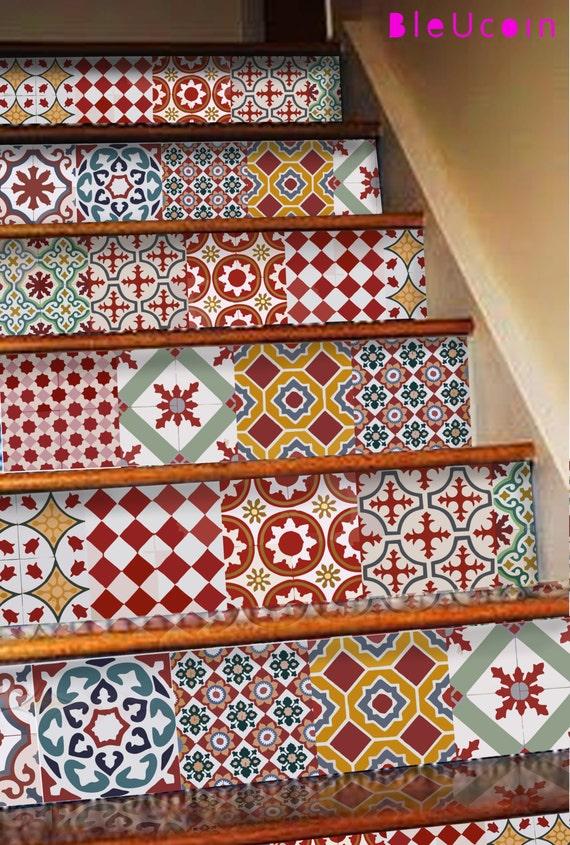 Athangudi Vintage-Fliesen / Wand / Bad / Küche / Stair | Etsy