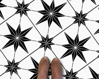 "Positano Black 12"" x 12""- 22 Pcs Anti-Skid Peel and Stick Floor Sticker Kitchen Bathroom Floor Removable 50% discount"