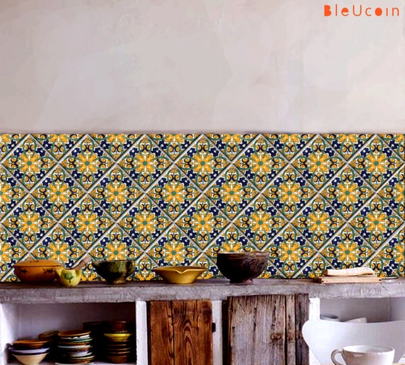 Oaxaca Tile Wall Stair Cabinet Decal Kitchen Bathroom Decals Etsy