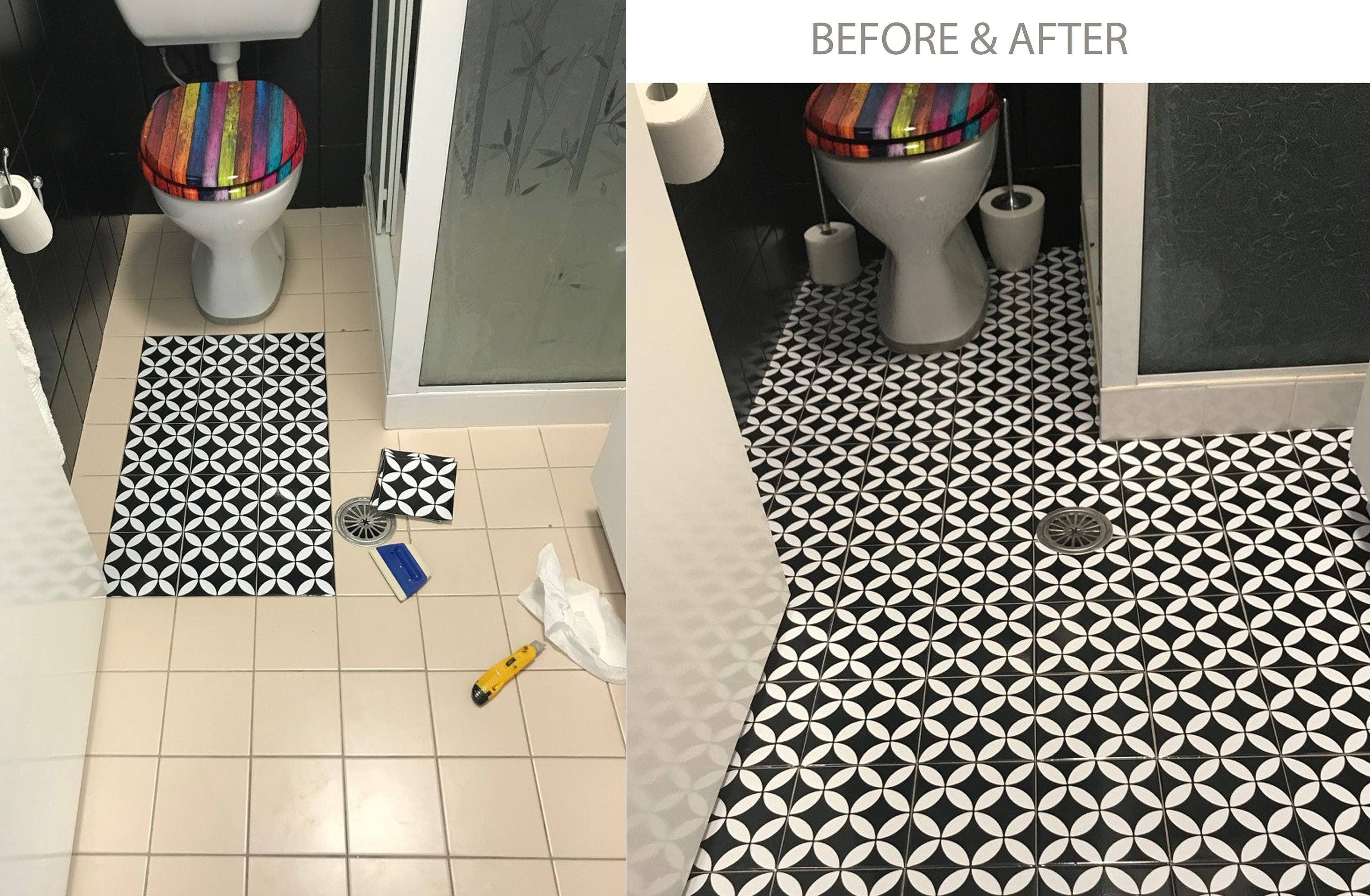 Barcelona Tile Wall Floor Stairs Vinyl Decal Removable Etsy