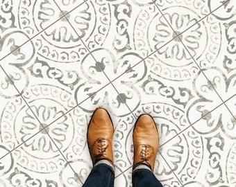 Amalfi Light Grey Tile Wall Stair Floor Self Adhesive Vinyl Stickers, Kitchen Bathroom Backsplash Carrelage Decal, Peel & Stick Home Decor