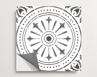 """50% Sale Matte 12"""" x 12"""" Naples Pack of 24 Peel and Stick Floor Tile Decal Removable"""
