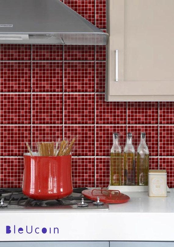 Adesivi cassetto mattonelle della cucina gabinetto etsy for Adesivi mattonelle
