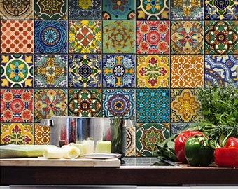 Cucina Bagno Blu Indiano Ceramica Decalcomanie Piastrelle