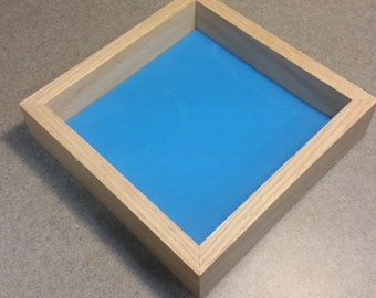 "7"" Red Oak High Side Dice Tray with High Density foam"