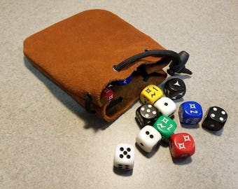Leather Dice Bag