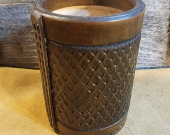 Dragon Scale Leather Dice Cup