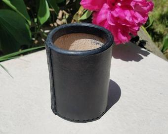 Plain Leather Dice Cup