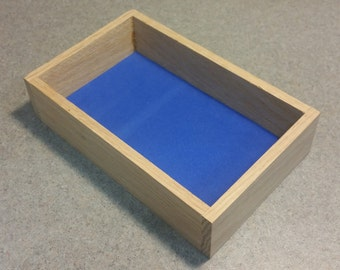 Red Oak High Side Mini Trays with choice of suede or foam liner.