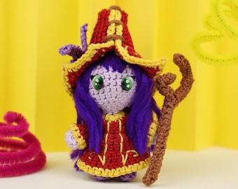 Lulu, Lulu Plush, Lulu LoL, Lulu Amigurumi, Crochet Lulu, League of Legends, Geek Gift, Nerd Gift, Gamer Gift, LoL Plush, Lulu Toy