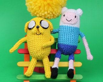 Finn Plush, Jake Plush, Finn Amigurumi, Jake Amigurumi, Adventure Time, Crochet Finn, Crochet Jake, Nerd Gift, Nerd Plush, Adventure Time