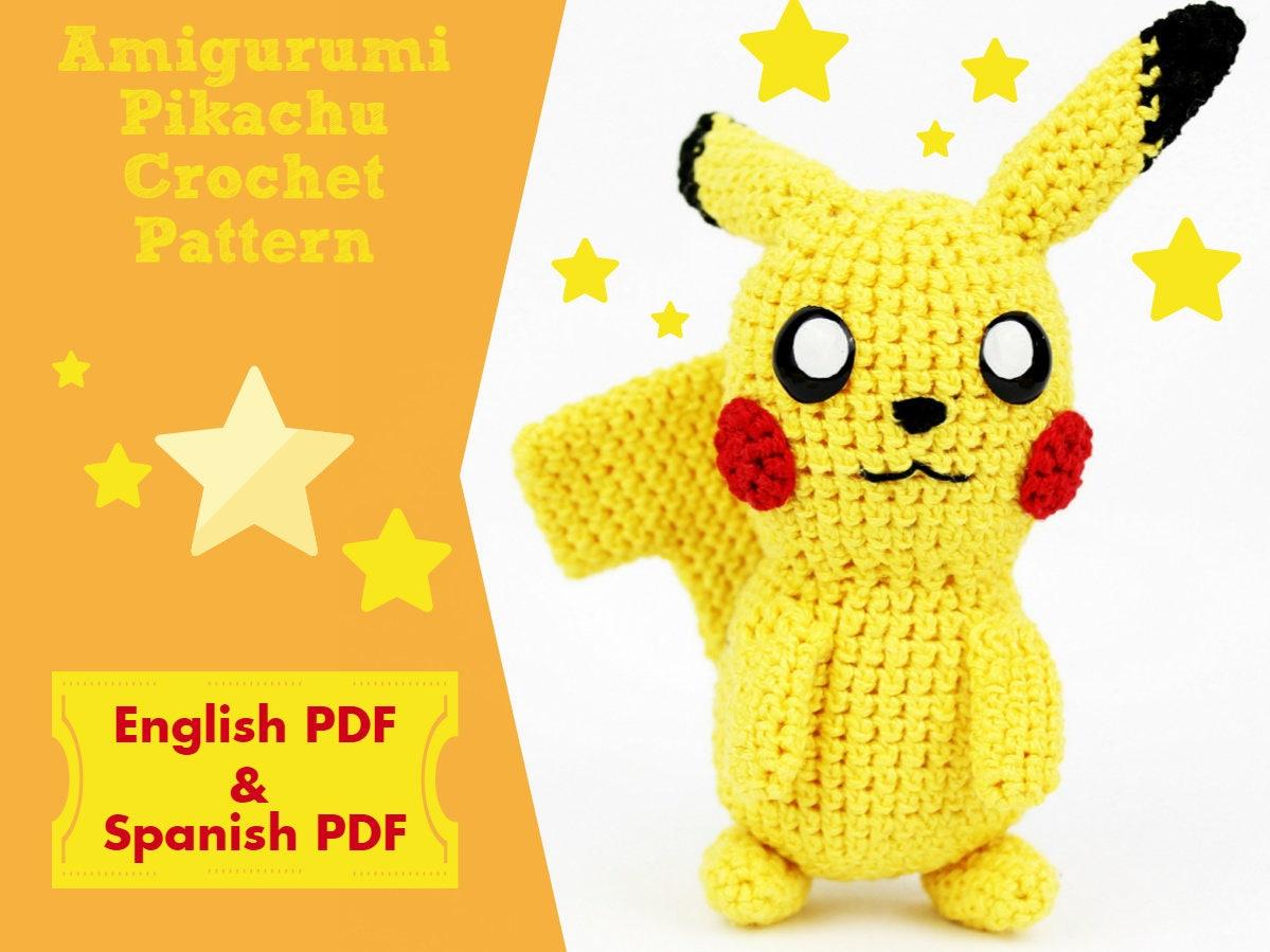 Patron Pikachu, Patron Amigurumi, Patron DIY, Patron Pokemon, Patron ...