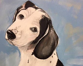 Custom Pet Portrait, 9x12 Painting of Your Dog, Dog Art, Puppy Painting, Hand Painted Pet Portrait