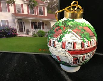 Custom House Portrait,  Ornament, New Home