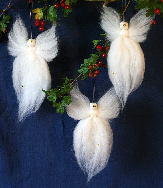 Waldorf Christmas Angels 13cm 5 Fairy Wool 3 Pack Etsy