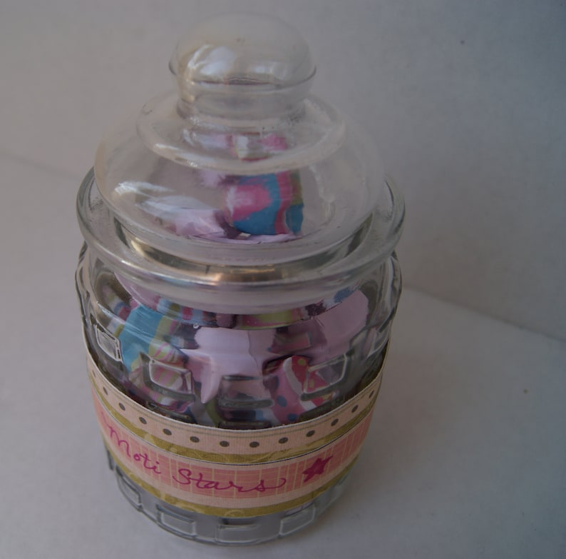 jar of origami wishing stars--Moti stars