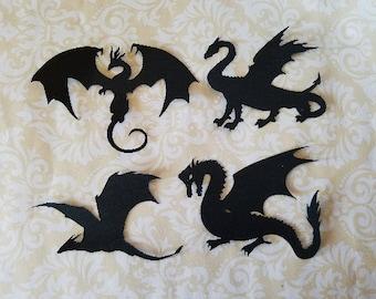 Die Cut Dragon Silhouettes.  #VEE-13