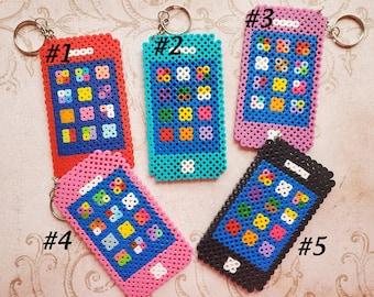 Perler Bead Iphone Keychain Set.... #PAC-7