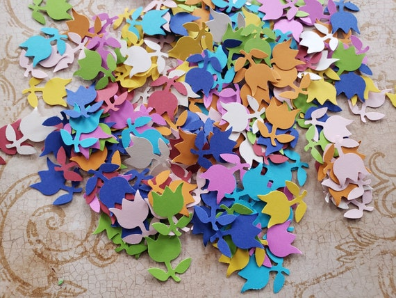 200 TINY TINY ASSORTED FLOWER Scrapbooking paper craft embellishments Cards
