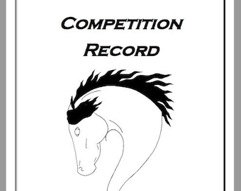 Horse Competition Record, Equine Journal, planner, Letter/A4 size