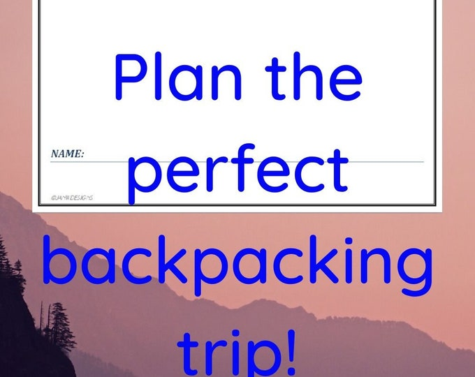 Backpacking Journal, travel, hiking, back packing, camping, trail record, self isolate