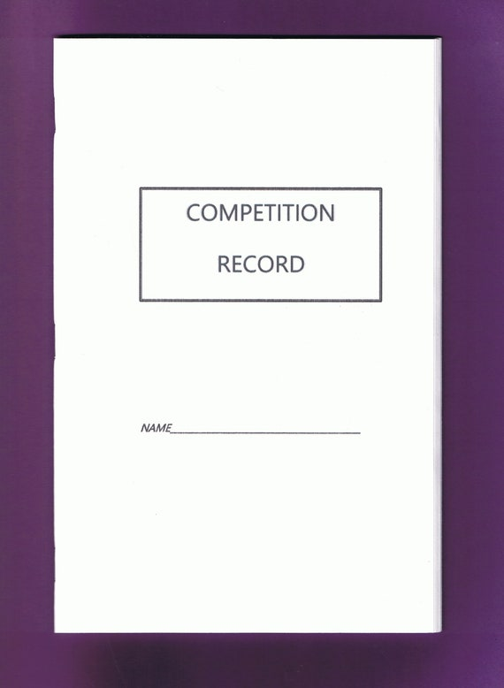 Competition Record booklet, Equine Journal System, printable, journal, downloadable version,Horse and Pony record, horse planner