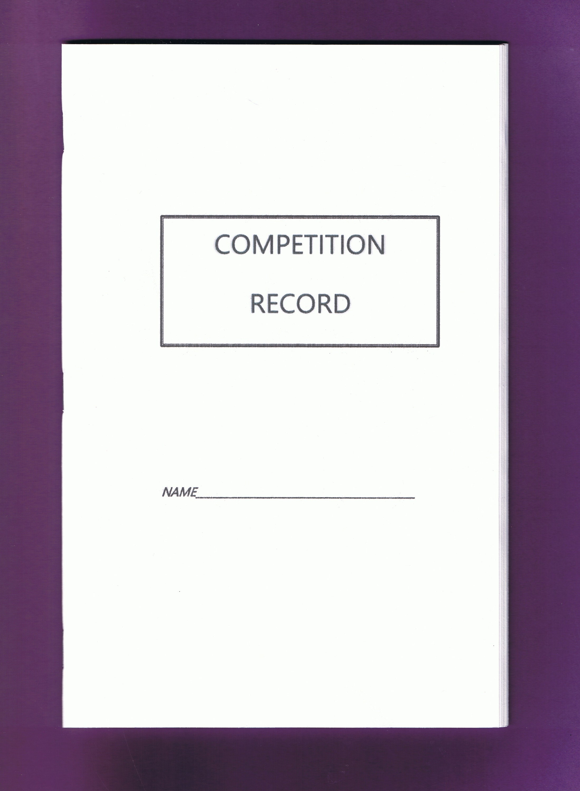 Competition Record Booklet Equine Journal System Printable Downloadable VersionHorse And Pony
