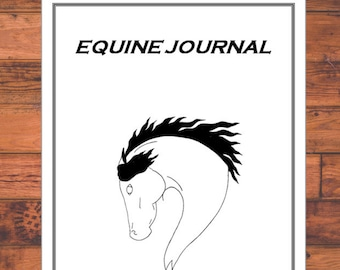 Equine Journal System, Letter size, horse record keeping, horse planner, horse health and expense tracker