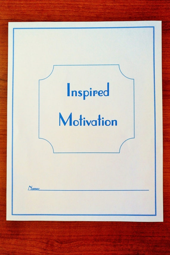 Inspired Motivation Journal, Planner, Diary