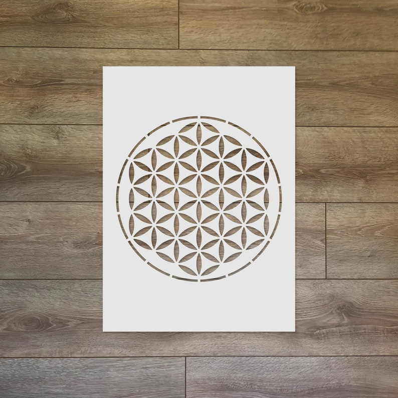The Flower of Life  Sacred Geometry Reusable Plastic Stencil image 0