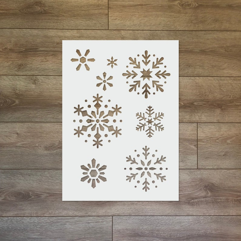 Snowflake  Christmas / Winter Reusable Plastic Stencil image 0