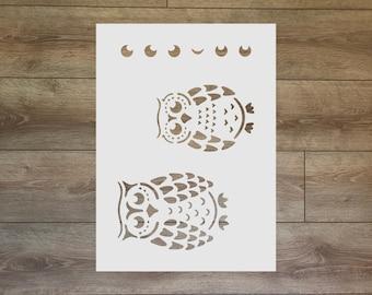 Owls Stencil