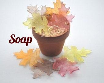 Rustic Wedding Favor Soap, Leaves Soap, Thanksgiving Favors ~ Fall Wedding Decor - Bridal Shower Favor Soap - Baby Shower Favor