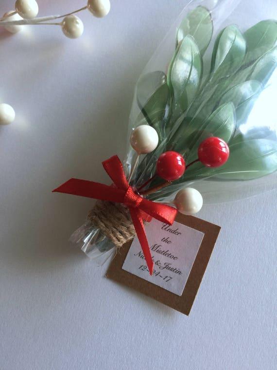 CHRISTMAS SALE Mistletoe Wedding Favors Soap White Elephant | Etsy