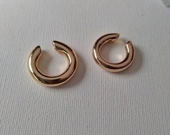 Gold Ear Cuff Set, Thick Ear Cuff Hoop Earrings, Ear Bar, Cartilage Cuff, Ear Wrap