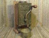 Telephone Coffee Mill - Original Box With Restored Wall Mounting - Complete - Arcade