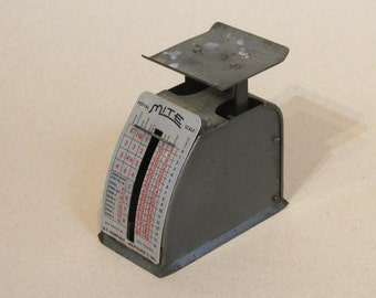 Marvel postal scalevintage postal scale,small scale,Marvel scale co,Milwaukee,parcel postal rates scale,rustic scale,rustic postal scale