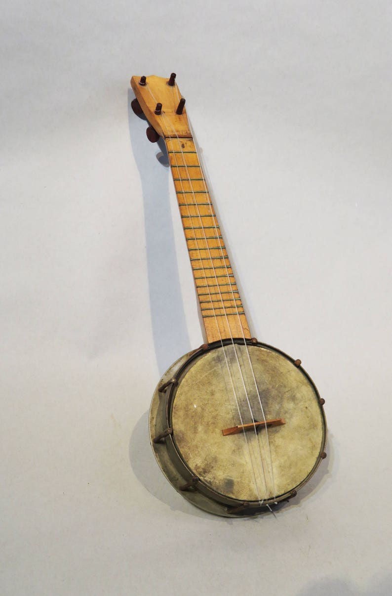 Banjolele - Rare, Early 20th Century - Metal Body - Patent Applied For - No  Mfg  Name -