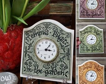 Tempus Fugit (Time Flies) in the Garden Ceramic Art Tile © 2002. All rights reserved.