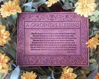 Garden Blessing - Ceramic Art Tile © 2004. All rights reserved.